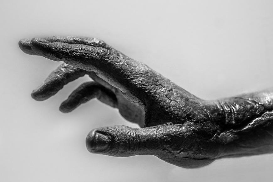 Gaunt hand